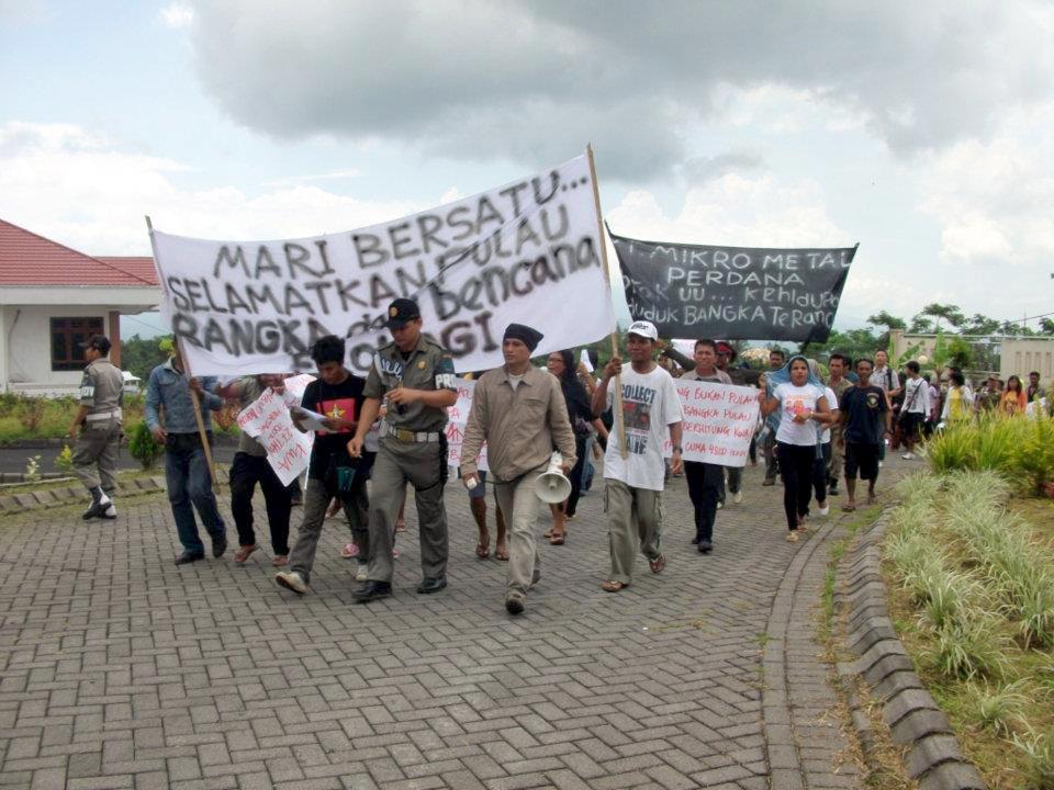 Protestaktionen der Bewohner Bangkas