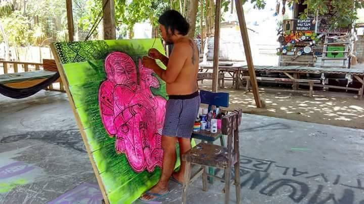 Rio beim Malen