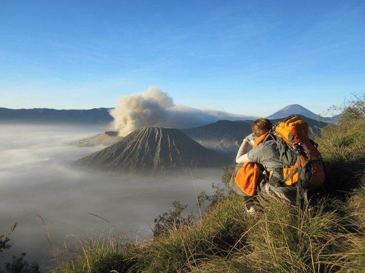 Freiheitsgefühle in Java am Vulkan Bromo