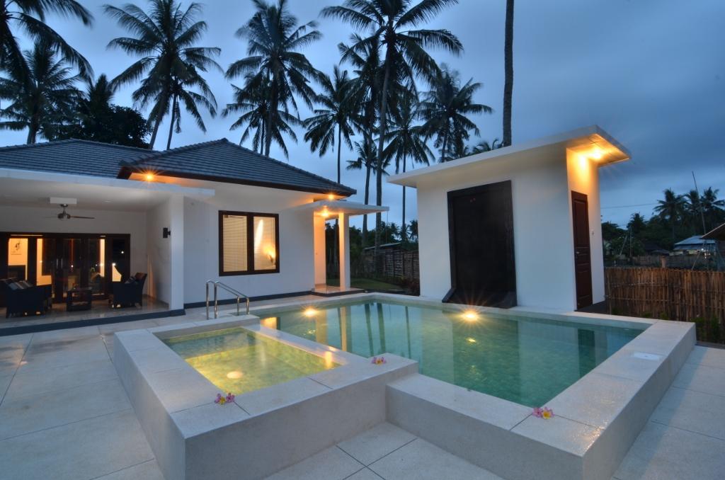 Eines, der paradiesischen Villen in Lombok