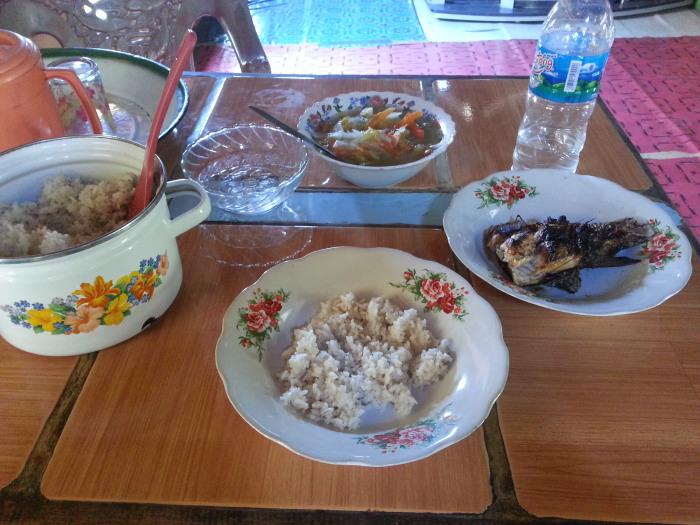 Das Essen auf Rinca kann auch manchmal sehr einseitig sein...