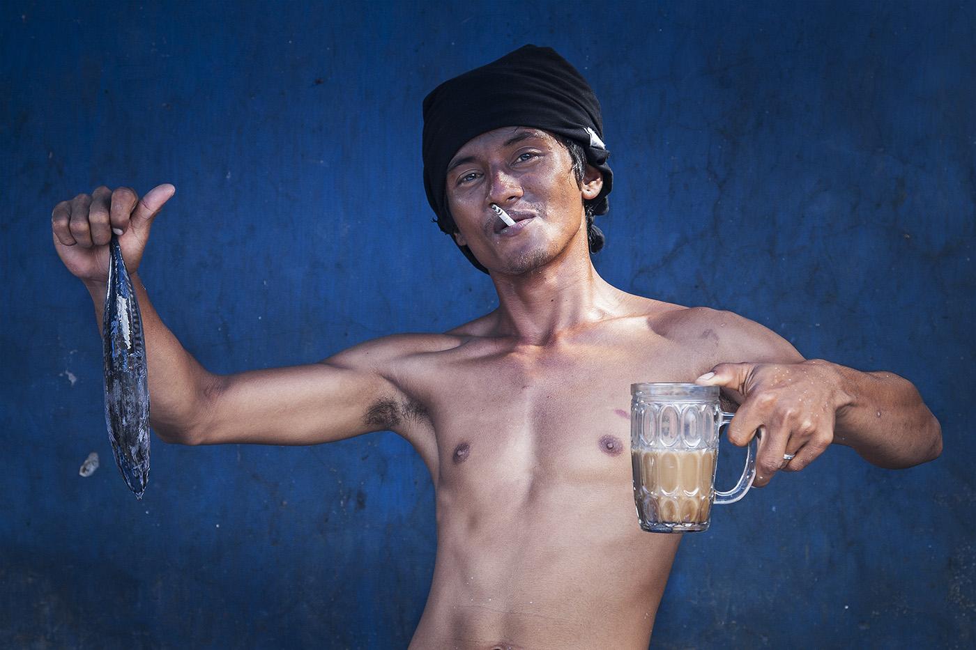 Mann auf Sulawesi