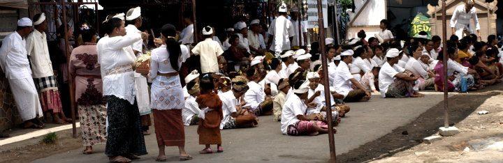 Tempelzeremonie in Padangbai