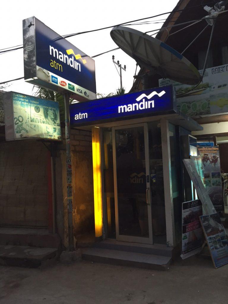 ATM auf Gili Trawangan