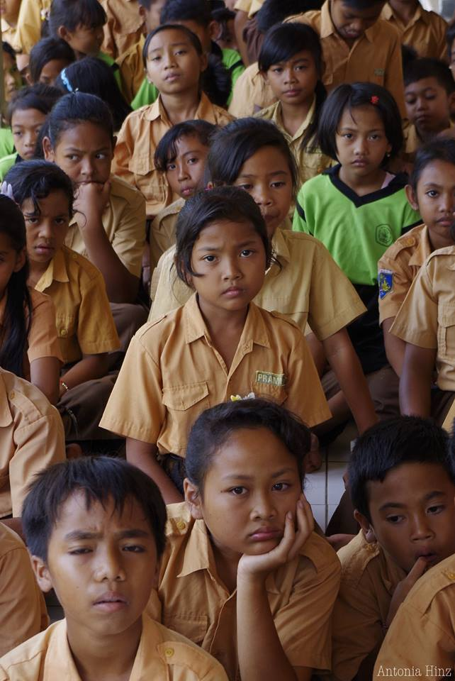 Antonia Sophia Schule SD Negeri Seraya, in der Nähe von Karangasam