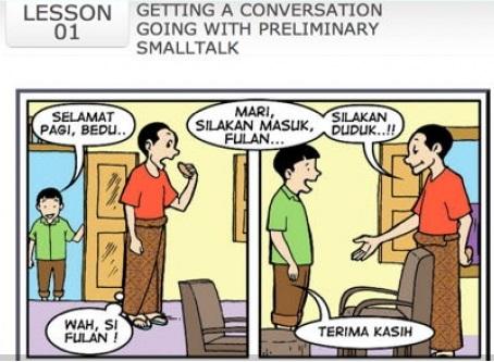 """Ausschnitt aus den Lernmaterialien von """"The Indonesian Way"""""""