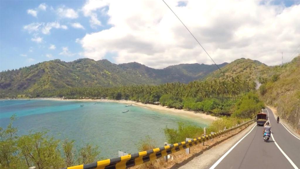 Aussicht Lombok Strand Pantai Pandan