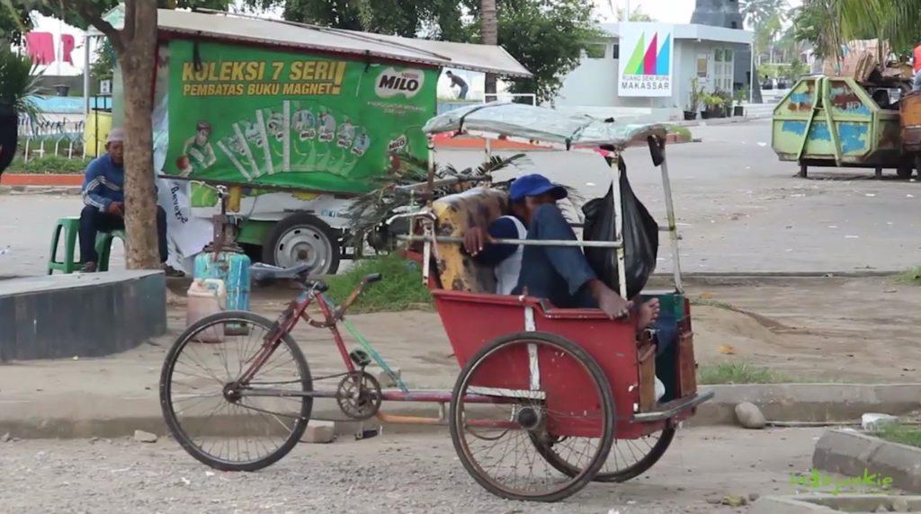Becak Indonesien
