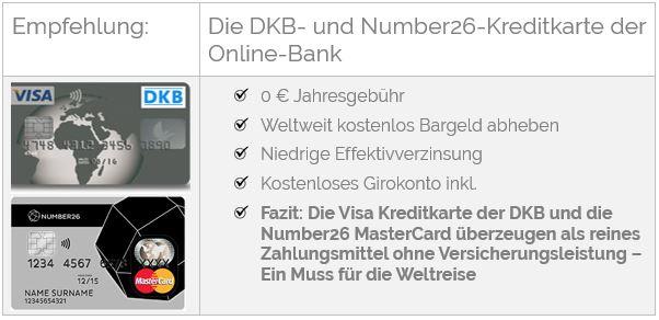 DKB- und Numer26 Kreditkarte