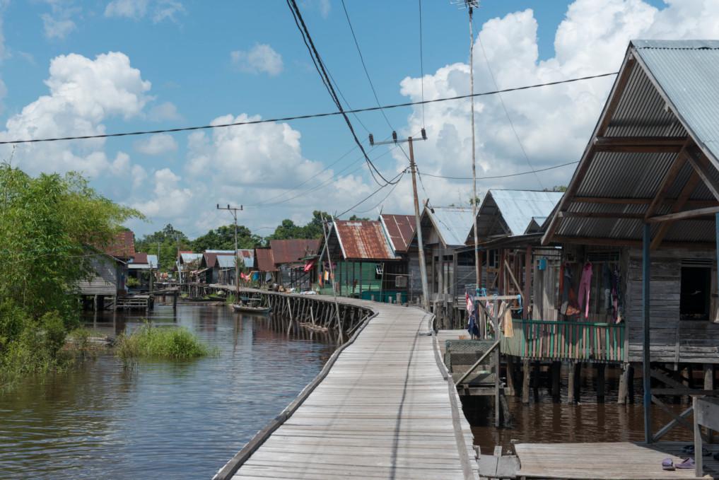 Das Dorf Petuk Katimpun