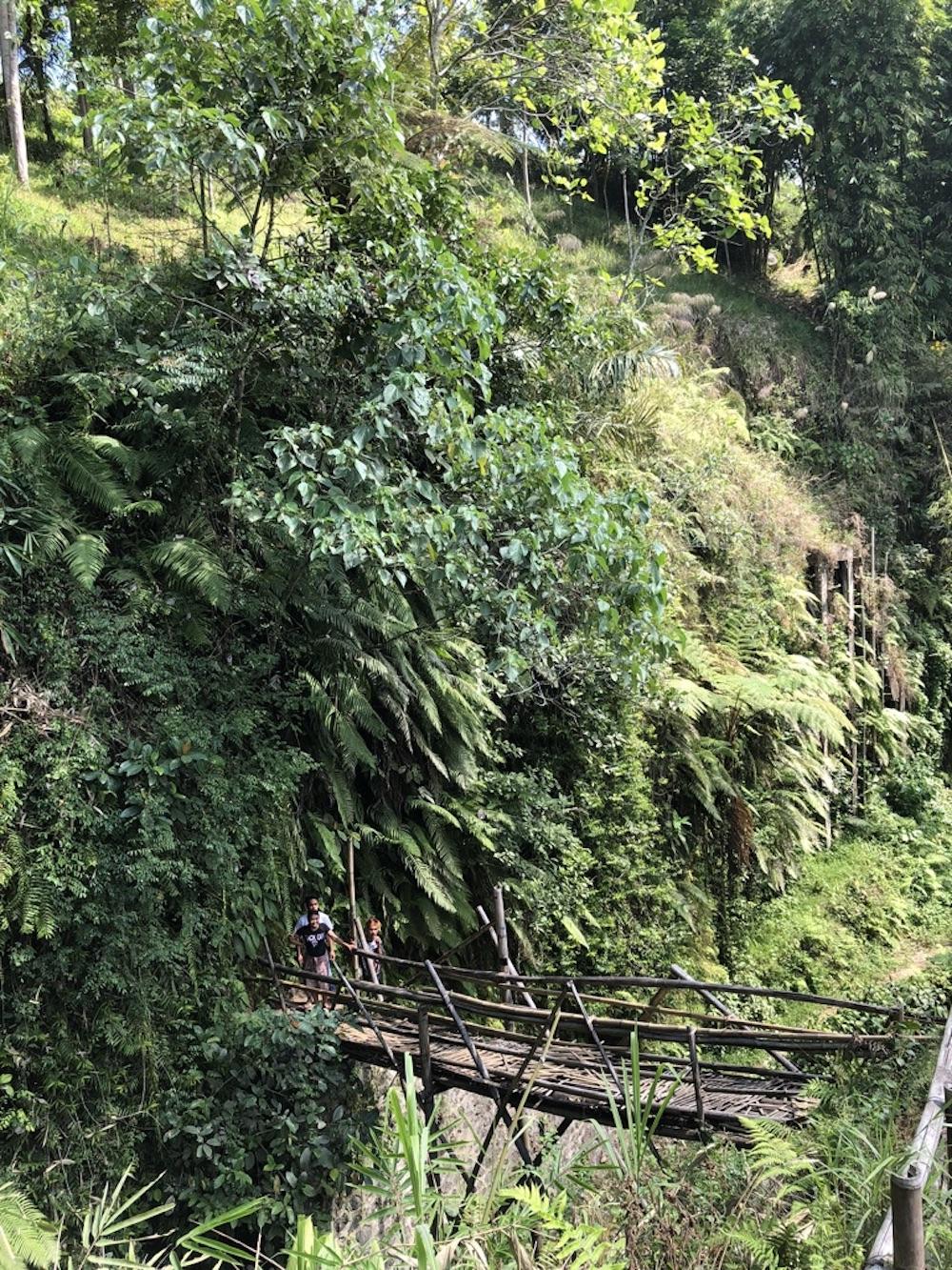 Der Weg zum Wasserfall Tetebatu