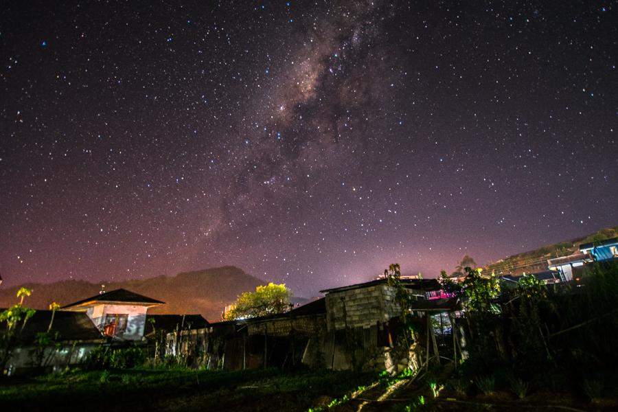 Dieng Java Milchstraße