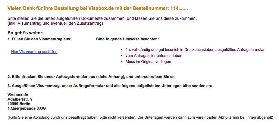 E-Mail Visabox