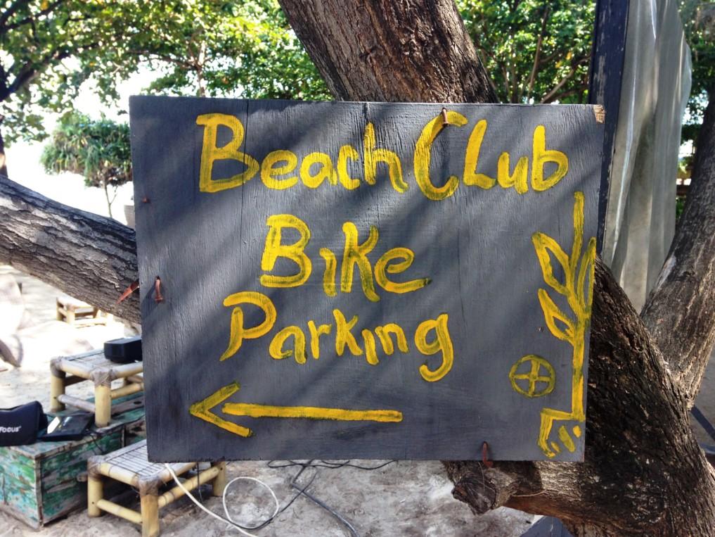 Parkplatz Fahrrad Gili Inseln