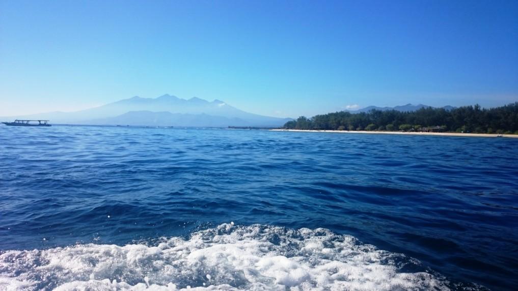 Nicht nur die Nachbar-Gilis sind sehr nahe -Lombok ist auch in Sichtweite!