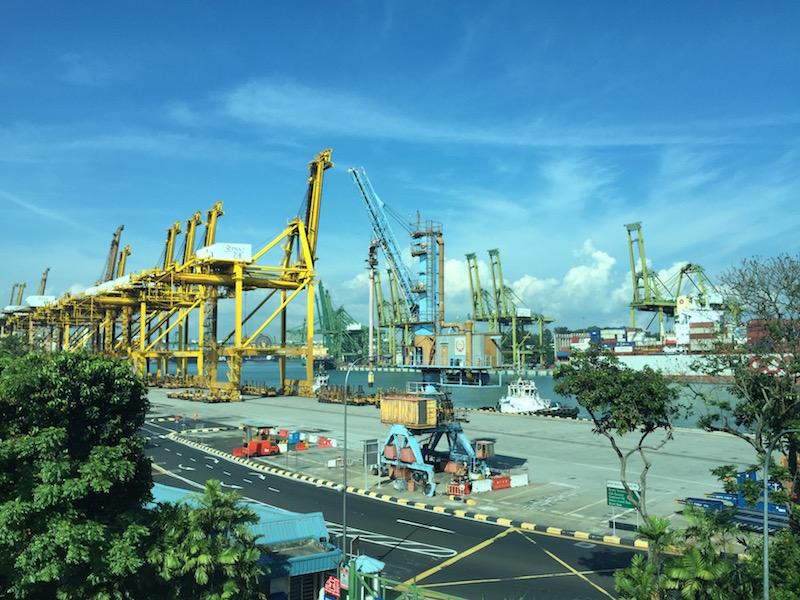 Hafenblick Singapur