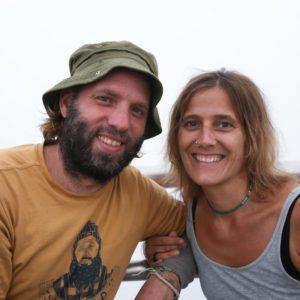 Indojunkie Edith und Stephan