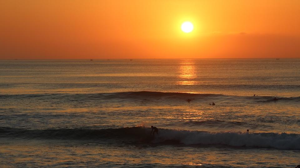 Indonesien-Urlaub-Sonnenuntergang
