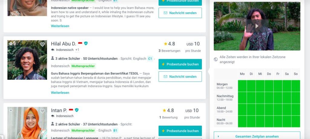 Indonesisch Nachhilfe Online