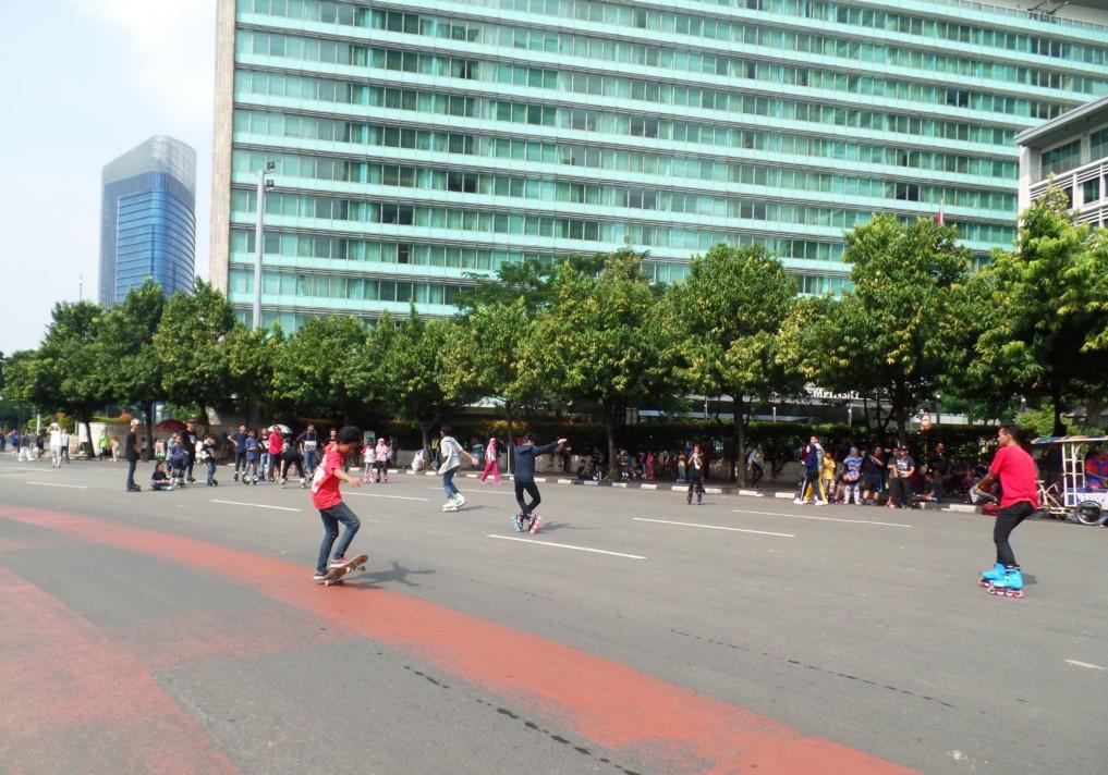 Jakarta Sehenswürdigkeiten Car free sunday