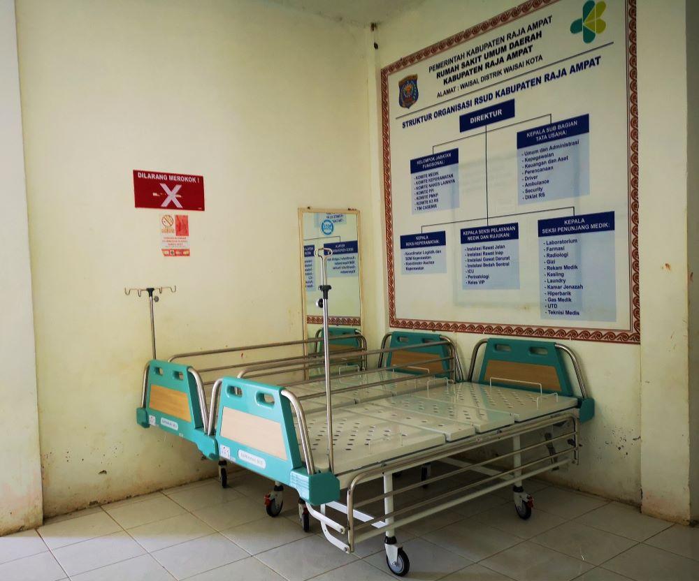 Krankenhaus Waisai neue Betten 1