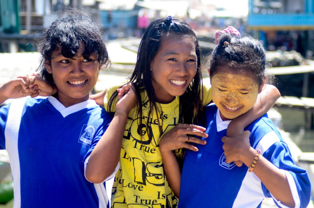 Lachende Kinder Wakatobi