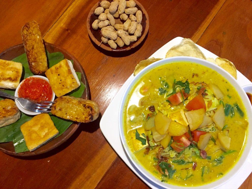 Laksa Medan vegetarien food yogyakarta