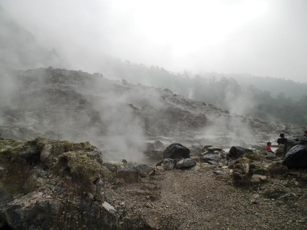 Der aktive Teil des Vulkans ist sehr beeindruckend