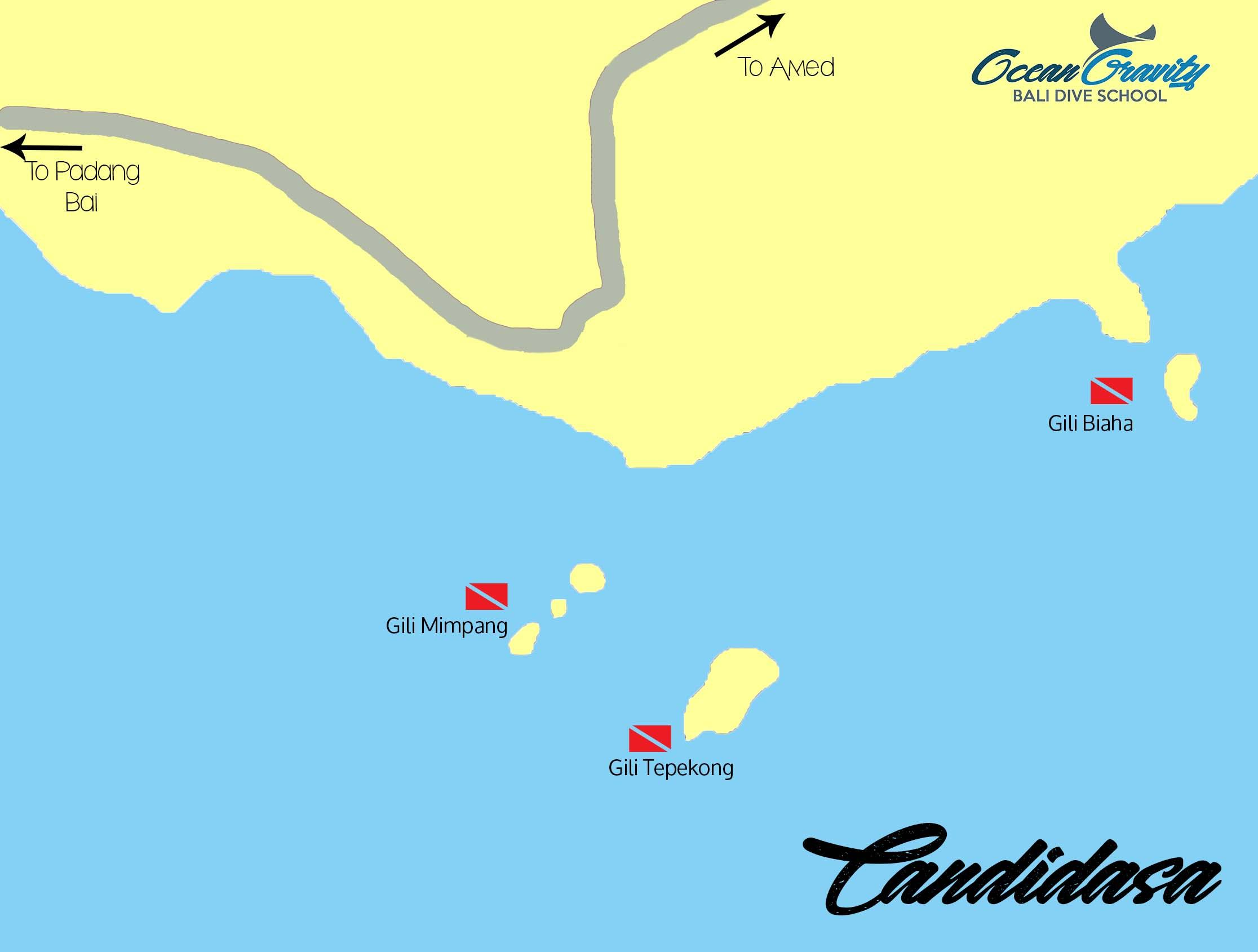 Map Candidasa