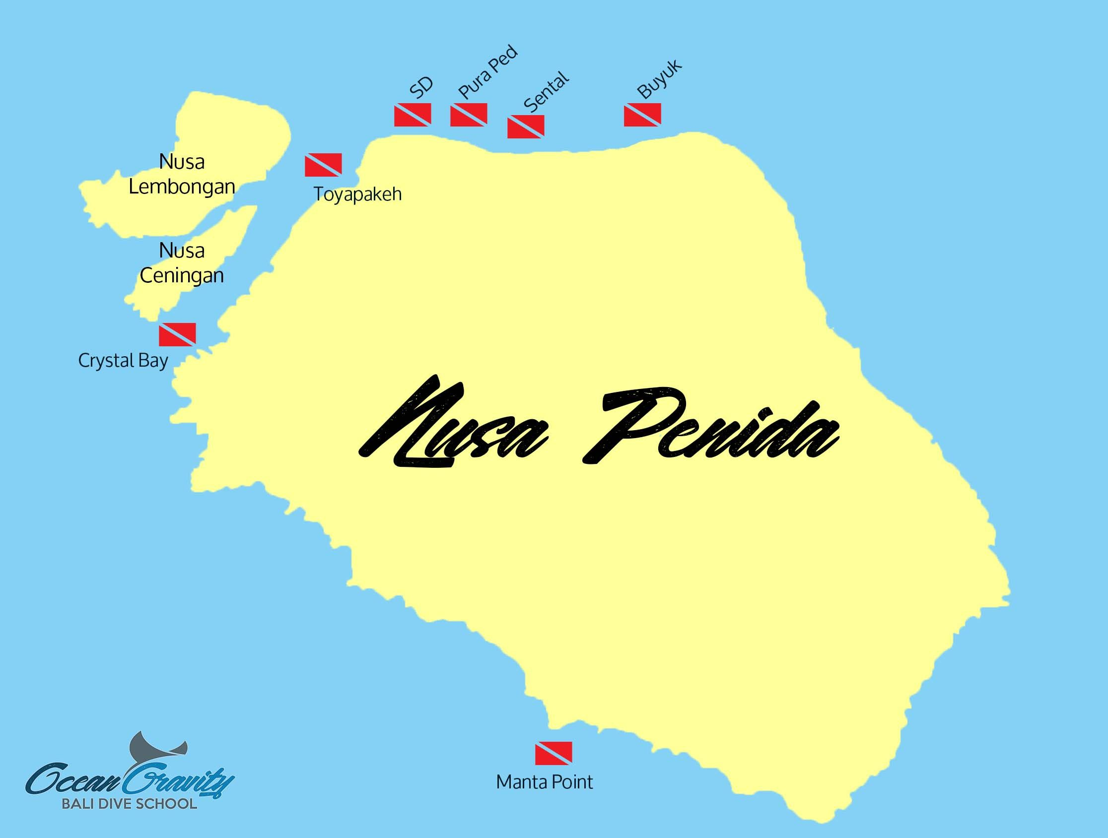 Map Nusa Penida