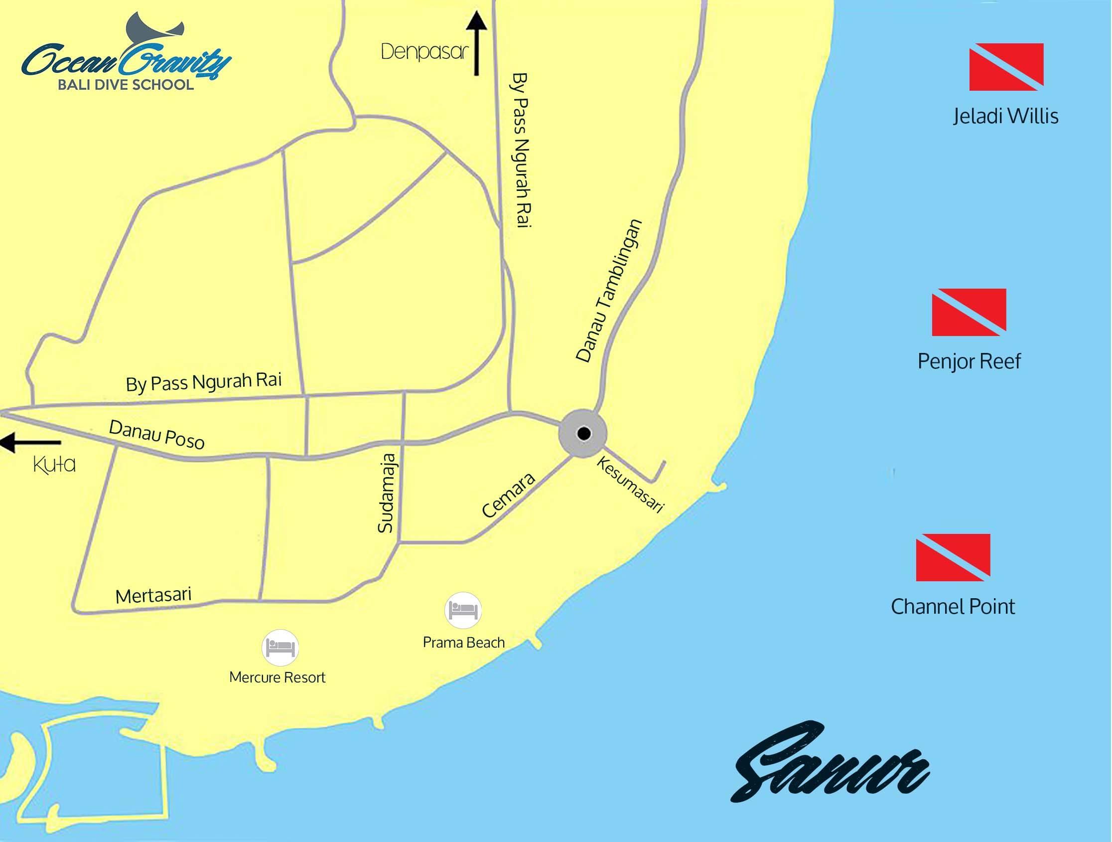 Map Sanur