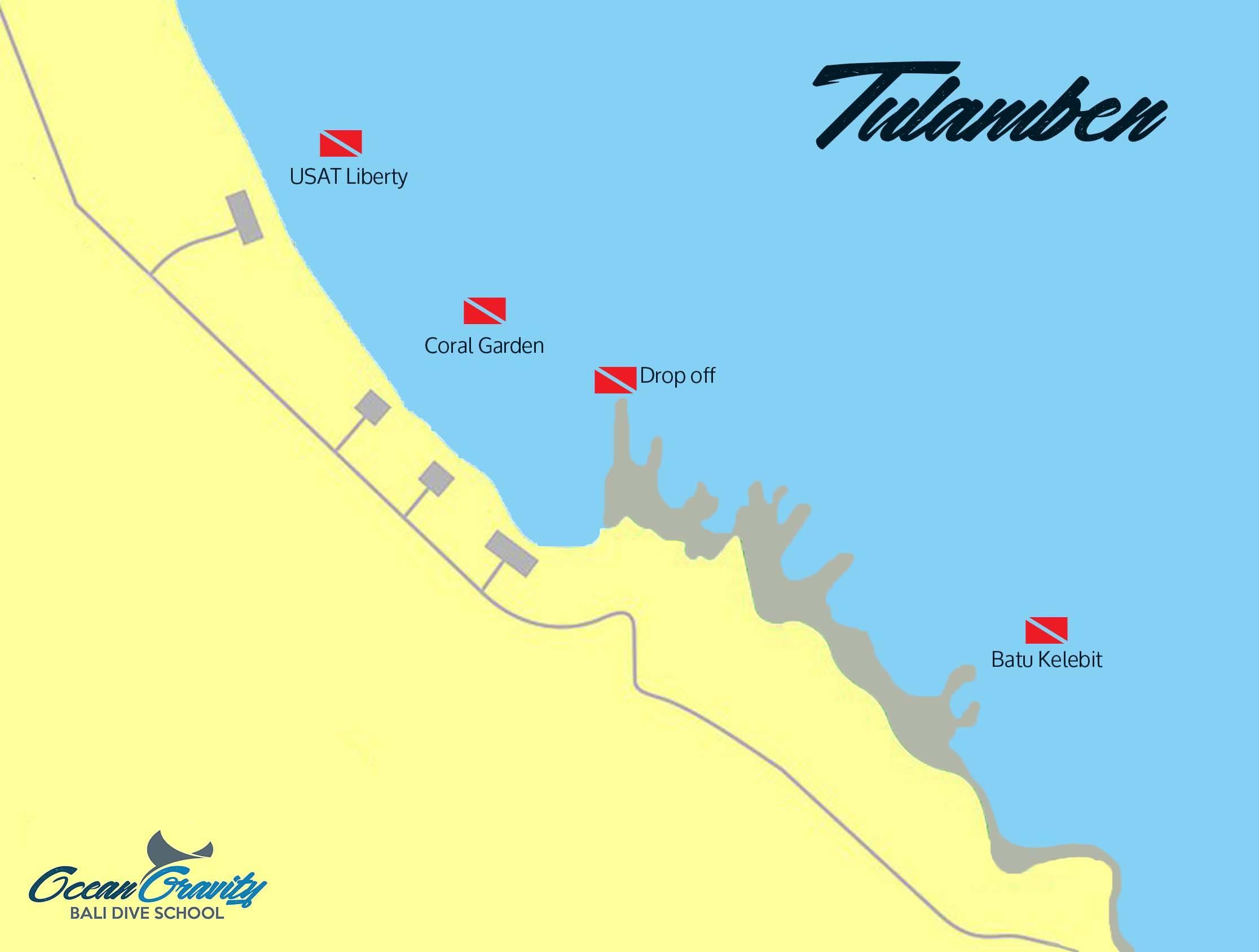 Map Tulamben