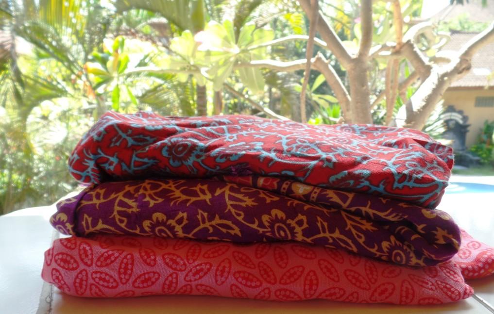 Typisch für Bali, Lombok und die Gilis? Ein Sarong!