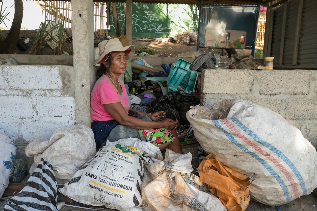 Müllarbeiterin