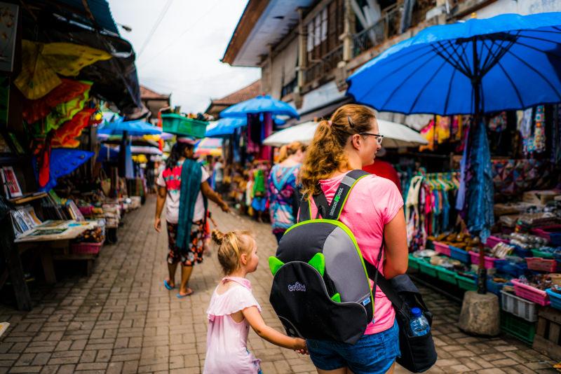 bali mit kindern markt