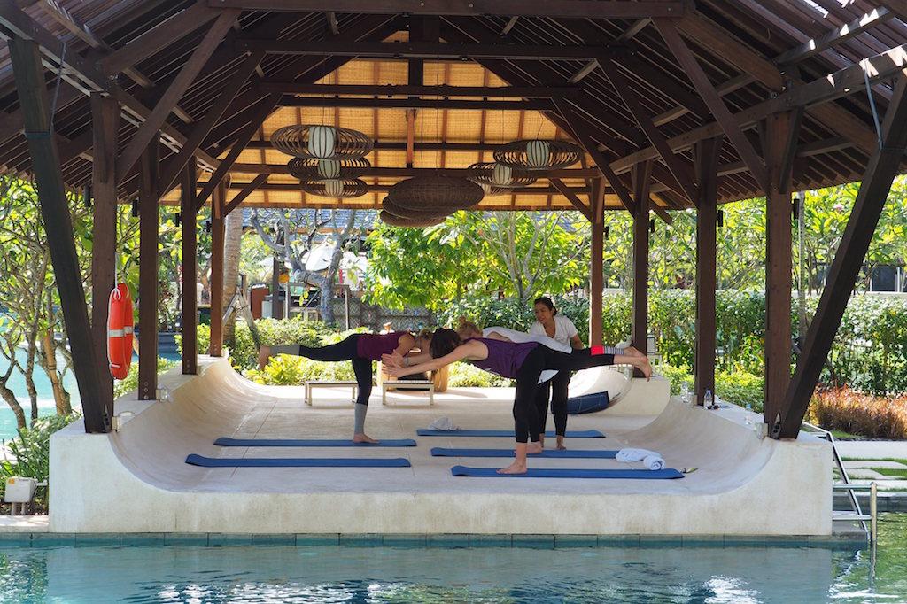Yoga im Mövenpick Hotel