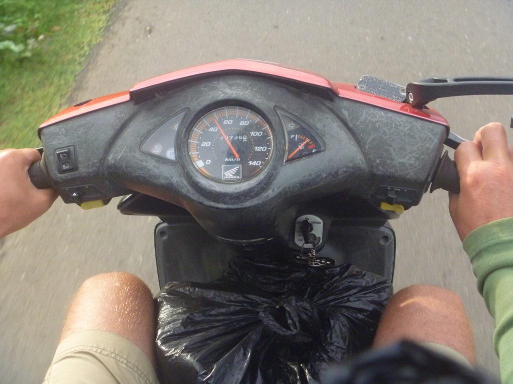 Viele Roller, die in Indonesien ausgeliehen werden, sind sehr sehr alt