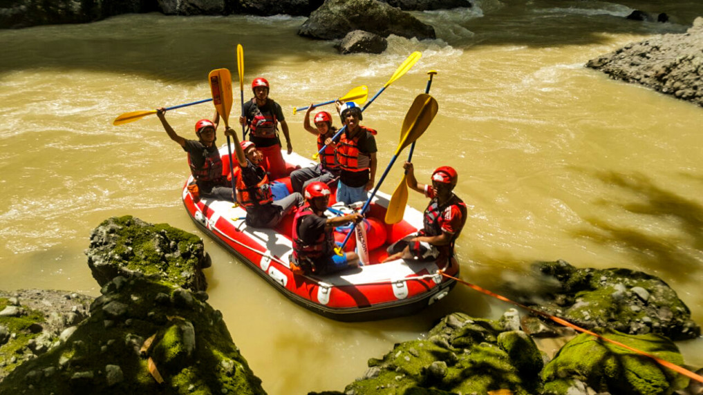 Rafting in Indonesien: Am Startpunkt