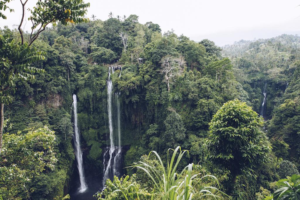 Bali Wasserfaelle Sekumpul Wasserfall und Fiji Wasserfall von oben