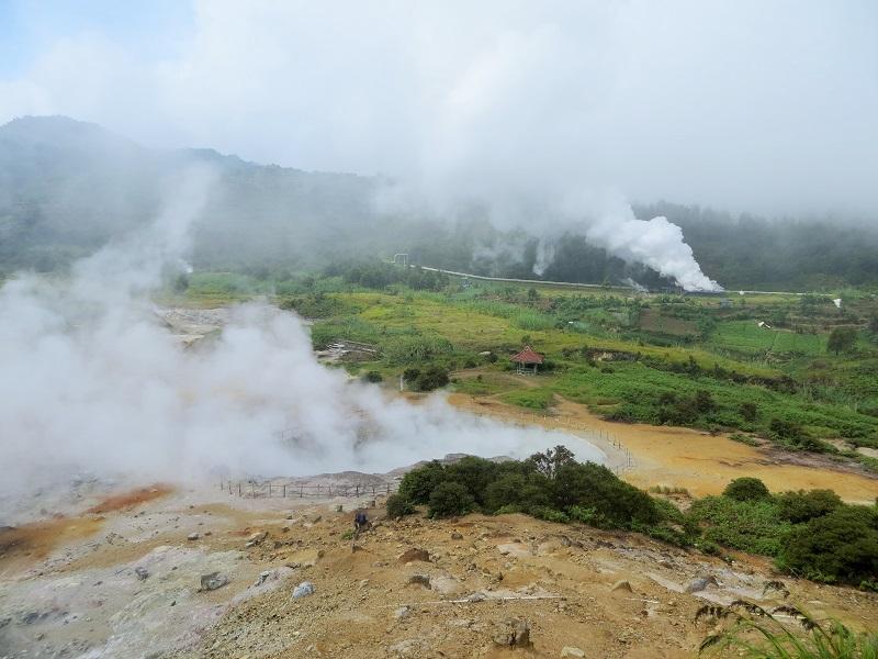 Sikadang Krater in Dieng