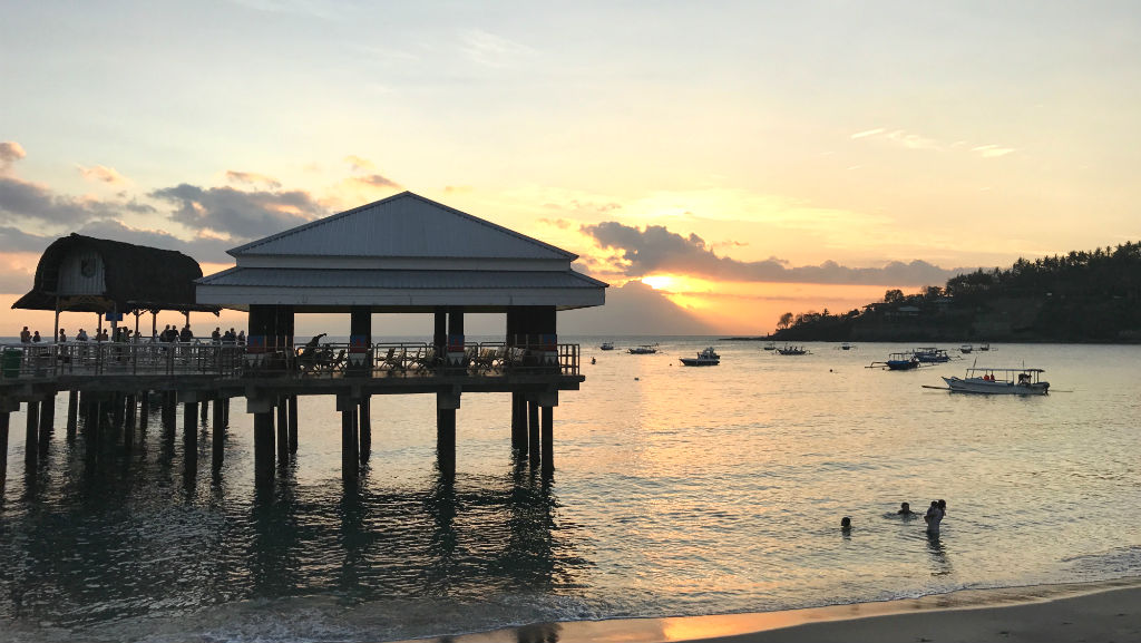 Sonnenuntergang Senggigi Hafen