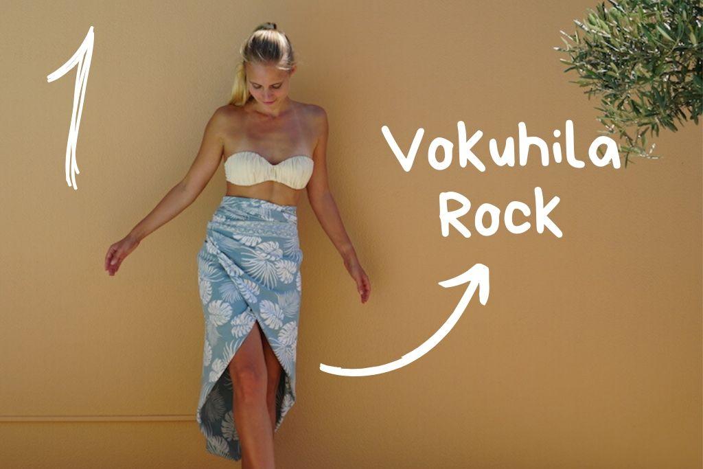 Strandtuch binden Vokuhila Rock