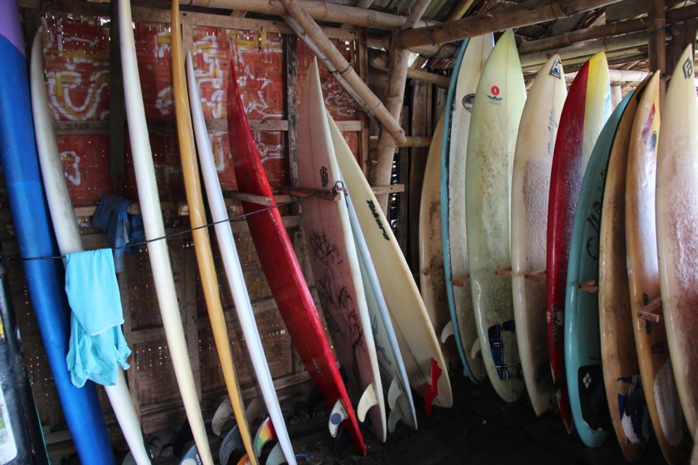 Surfboardverleih Medewi Beach