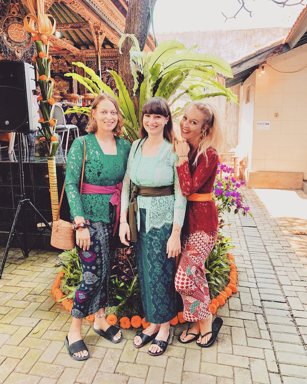 Traditionelle balinesische Hochzeit