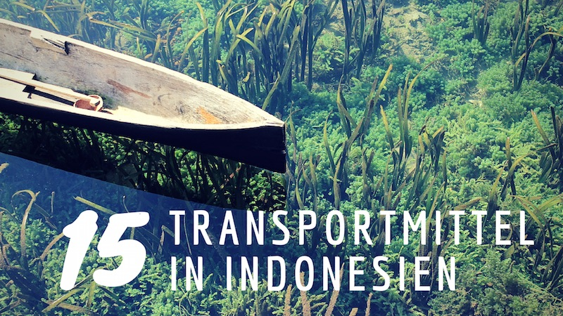 Transportmittel Indonesien