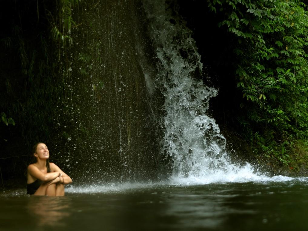Genieß den Wasserfall
