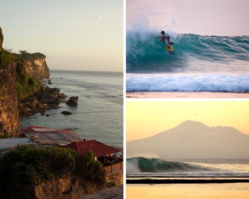 Uluwatu´s perfekte Wellen mit Blick auf die Vulkane. Fotos: Barbara Nickl