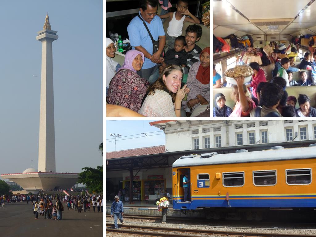Von Jakarta nach Yogyakarta mit dem Zug