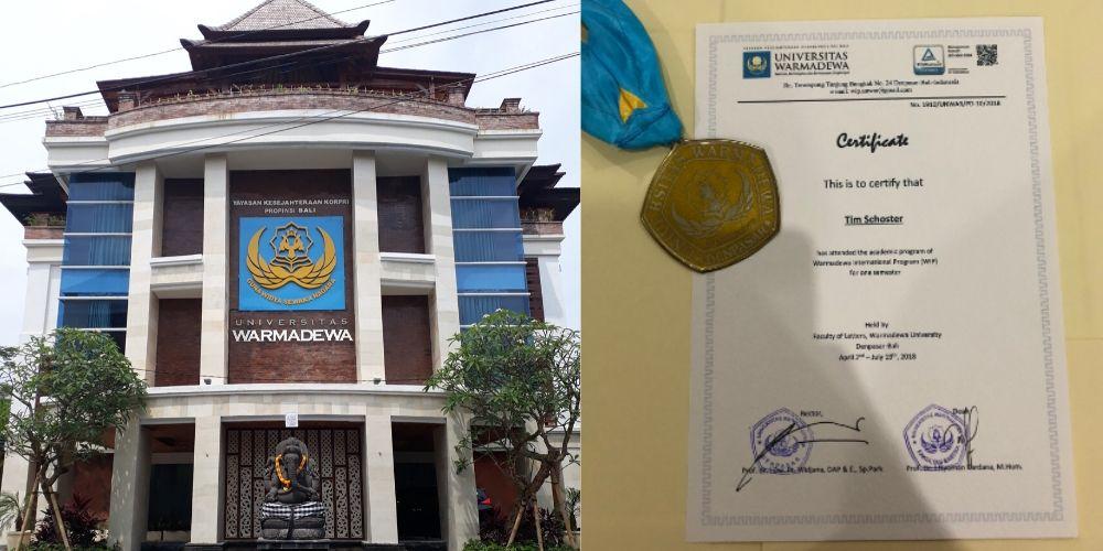 Warmadewa University auf Bali abschluss