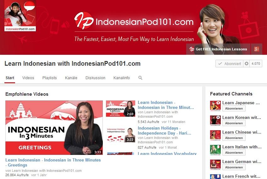 Youtube-Indonesisch-lernen